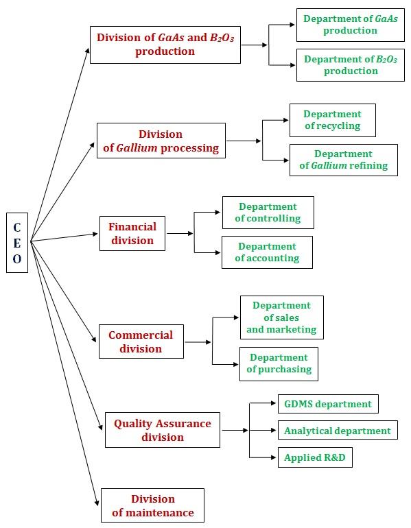 organizational structure of CMK